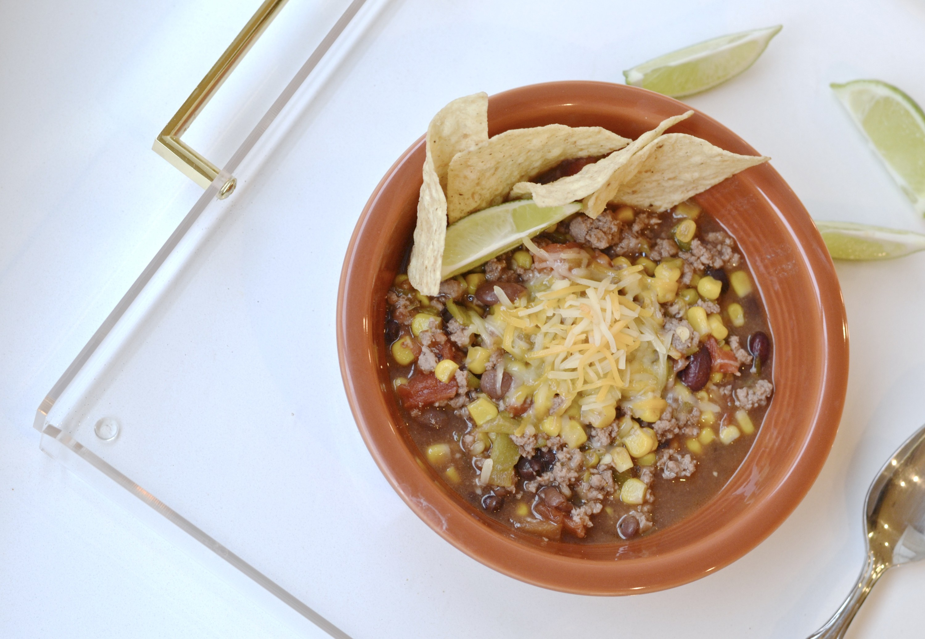 Green Chile Taco Soup